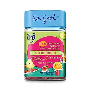 Vitamina D Kids de 120g, Suplemento Alimentar Dr.Good com 30 gomas de 120g