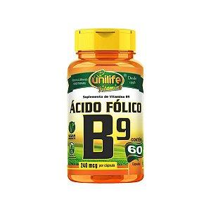 Vitamina B9 Unilife 60 cápsulas