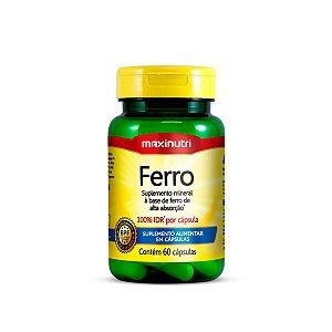 Ferro Quelato 100% IDR Maxinutri 60 cápsulas 14mg