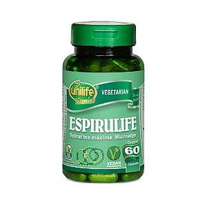 Espirulife Spirulina Unilife 60 cápsulas