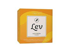Chá LEV Detox com cafeína 60 sachês