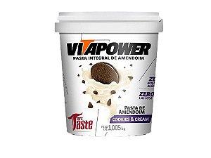Pasta de amendoim Cookies & Cream 1kg Vitapower