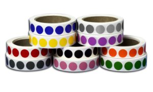 Bobina com 5.000 etiquetas adesivas de identificação 19mm