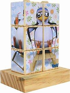 Quebra-cabeça de Encaixe Cubos Pinguim (18 meses+)