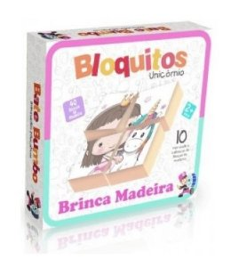 Bloquitos Unicórnio: Brinca Madeira (2 anos+)