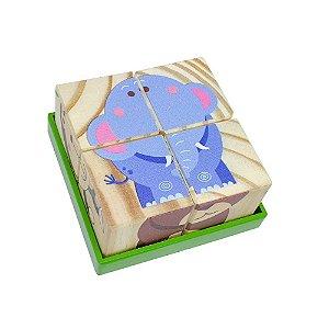 Quebra-cabeça Cubos Animais (18 meses+)