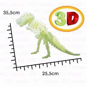 Dinossauro 3D Tiranossauro Rex: Brilha no Escuro (5 anos+)