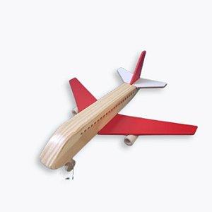 Avião Boeing de Madeira Vermelho (3 anos+)
