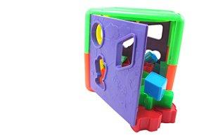 Cubo Educativo de Encaixe Formas e Cores