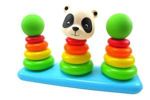 Brinquedo de Empilhar Argolas do Ursinho