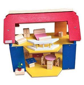 Casa de Boneca com Varanda