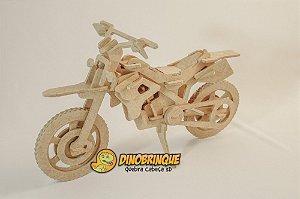 Moto Cross Quebra cabeça 3D - 55 Peças
