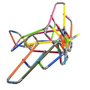 Quebra-cabeça Puzzle 3D Avião - 93 peças