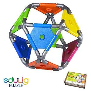 Quebra-cabeça  3D Triângulos  - 50 peças