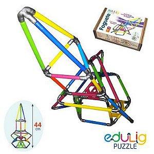 Quebra-cabeça  3D Foguete - 56 peças