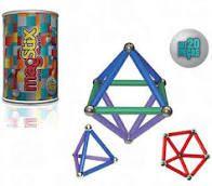 Barras Magnéticas com Esferas MAGSTIX- KIT 20 peças Fosforescentes