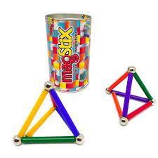 Barras Magnéticas com Esferas Magstix Kit 38 peças coloridas