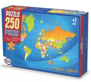 Quebra cabeça - Mapa mundi (7 anos+)