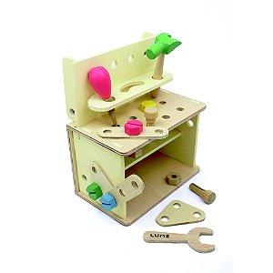 Bancada de Ferramentas Infantil - Inventando e Consertando (3 anos+)