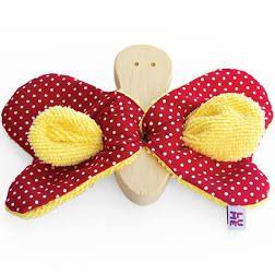 Borboleta Asas Amarelo e Vermelho (4 meses+)