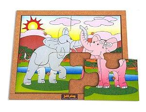 Quebra-Cabeca com Pinos modelo Elefante - 4pcs