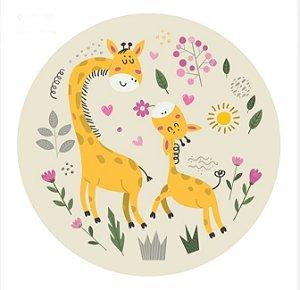Quadro Fofura de Girafas