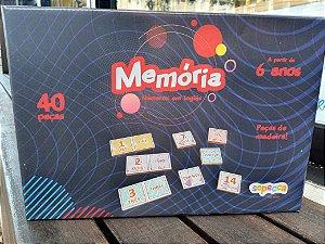 Memória Número em Inglês (6 anos+)