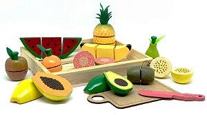 Kit 11 Frutas com Corte (3 anos+)