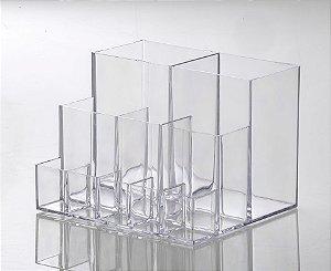 ORGANIZADOR COSMÉTICOS COM DIVISÓRIA ELEGANCE 15 x 13 x 11cm