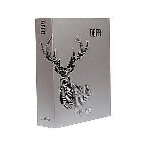 BOOK BOX METALIZ DEER GEOMETRIC