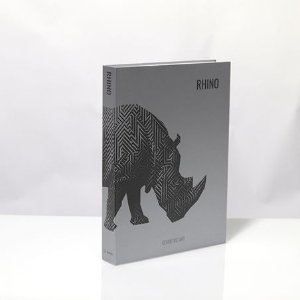 BOOK BOX METALIZ RHINO GEOMETRIC