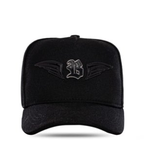 Boné Snapback Metal Wings Black