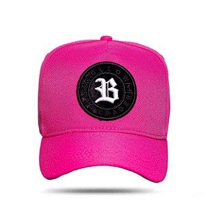 Boné Snapback Follow Pink Logo Camu