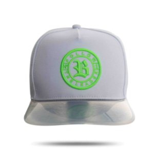 Boné Snapback Follow Transparency White Green