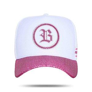 Boné Snapback Shine Perfect White Pink