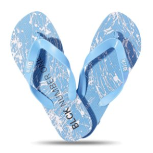 Chinelo Blck Tradicional Number One Resping Blue Clear