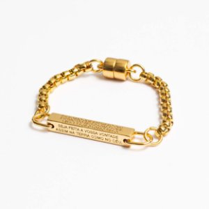 Bracelete Luxury Pai Nosso Dourado