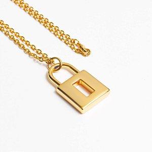 Corrente Cadeado Dourado