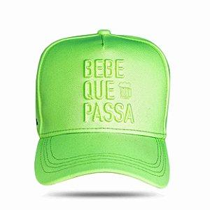 Boné Snapback Bebe Que Passa Green Fluor