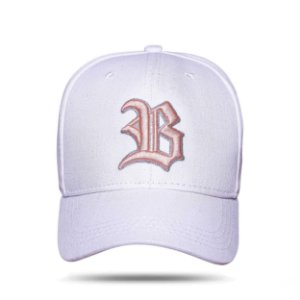 Boné Strapback New White Logo Pink