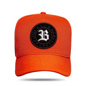 Boné Snapback Follow All Orange Logo White