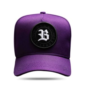 Boné Snapback Follow All Roxo Logo White