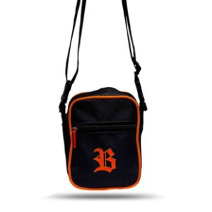 Shoulder Bag Black Basic Logo Orange