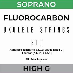 Encordoamento Ukulele Soprano High G S11