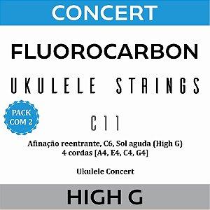 Encordoamento Ukulele Concert High G C11 (Pacote com 2)