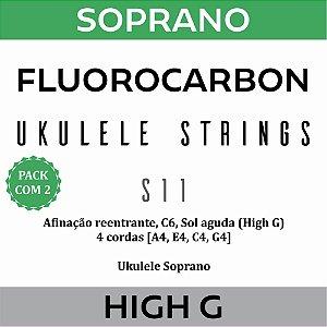 Encordoamento Ukulele Soprano High G S11 (Pacote com 2)