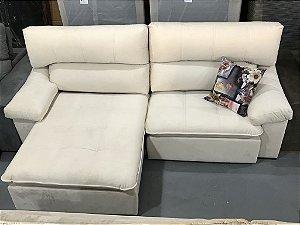 Sofa Retrátil Com Encosto Reclinável Gramado Bege (Cód. 0027)
