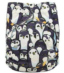 Fralda Ecológica Pinguins Ohbabyka