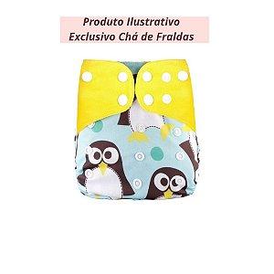 Fralda Ecológica Pinguim Simfamily - Exclusivo Chá de fraldas
