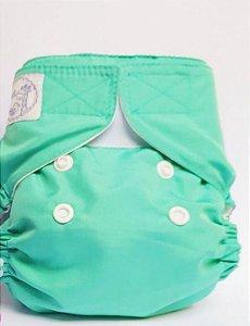 Fralda Ecológica Recém Nascido Verde Lêli - Modelo Capa sem bolso
